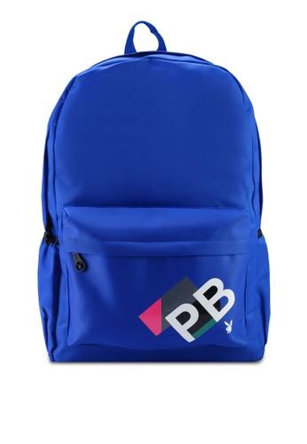 Playboy blue PB Print Backpack 04D3BAC4404BEDGS_1