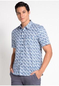 0466dddc32e BRITANIA blue Short Sleeve Modern Print Shirt C80F7AA2B2E953GS 1