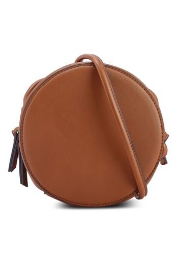 Mango brown Round Bag DAB6AAC79DCABCGS_1