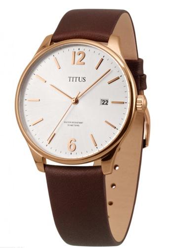 Solvil et Titus white and brown and gold Men's Interlude Analogue Quartz Watch SO598AC42PXLSG_1