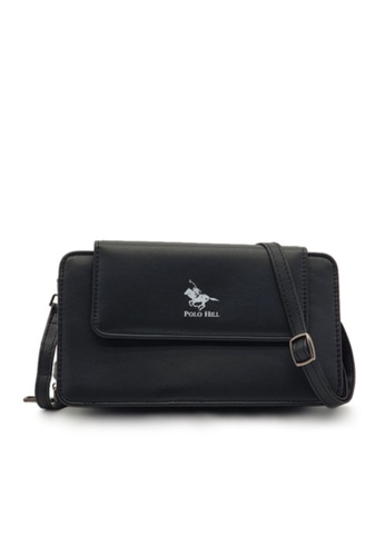 POLO HILL black POLO HILL Ladies Multi Purpose Smartphone Purse Wallet Sling Bag B7042ACFD2A252GS_1
