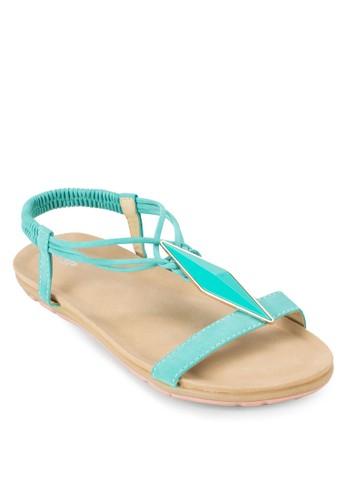 鑽石牌飾繞踝涼鞋, 女zalora 心得鞋, 涼鞋