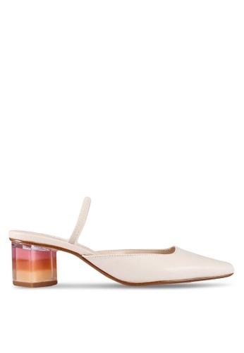 Buy Mango Geometric Heeled Leather Shoes Online on ZALORA Singapore 8fbf04287
