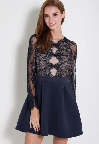 Leline Style blue Pandle Lace Dress LE802AA38SPTSG_1