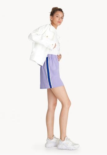 Pomelo purple Mini Side Striped Tape Skirt - Lilac F10FAAAF120E04GS_1