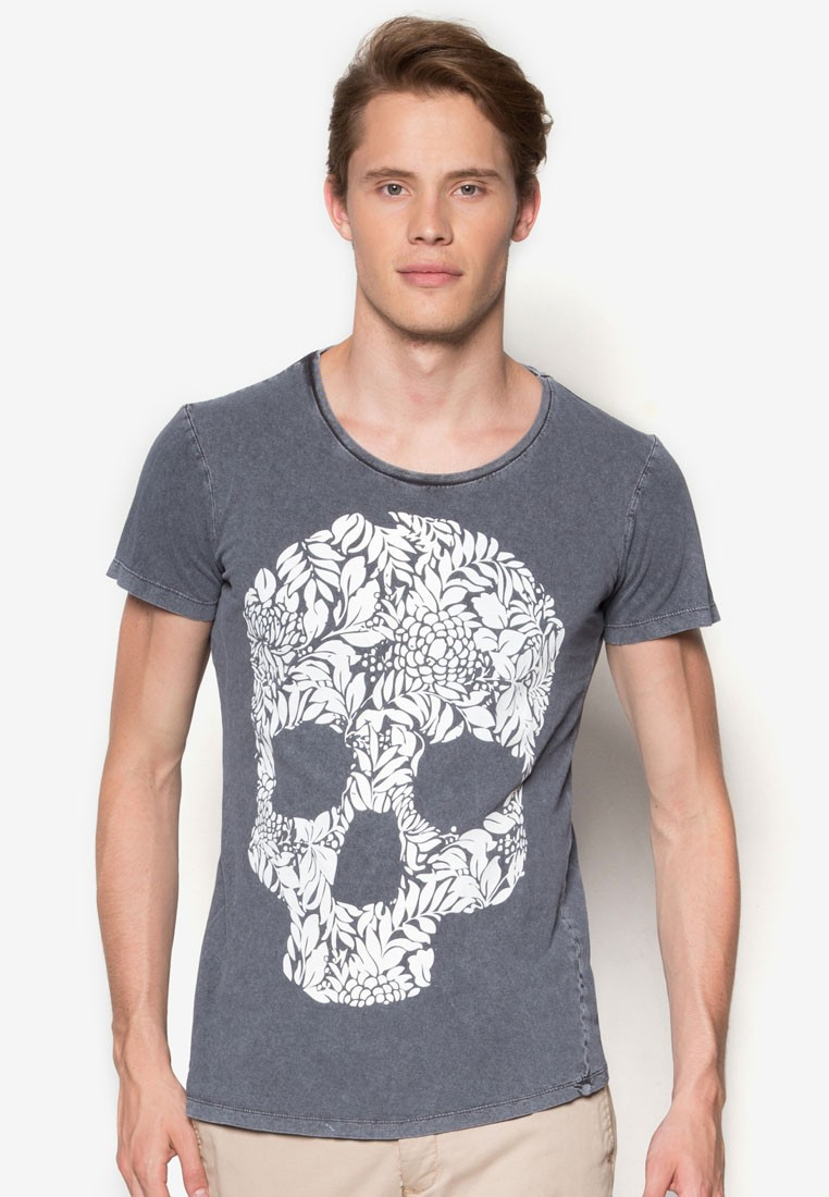 Girocollo Con Stampa T-Shirt