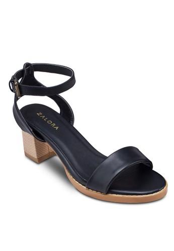 踝帶粗跟涼鞋zalora鞋, 女鞋, 鞋
