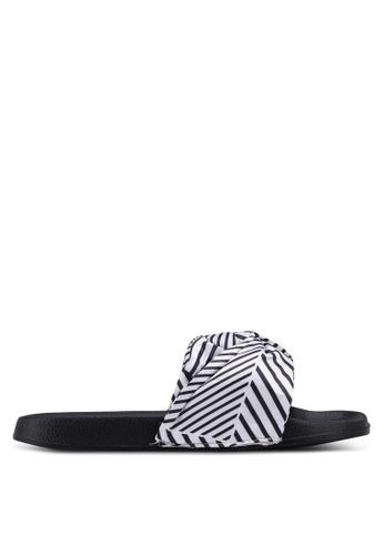 Rubi 黑色 and 白色 Wild Slide Sandals 3F0EBSHC00C2E8GS_1