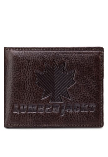 Lumberjacks 壓紋對折皮夾, 飾品配件, esprit holdings皮革