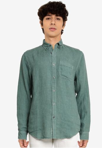 Abercrombie & Fitch green Webex Long Sleeve Shirt 30C66AAFD699A0GS_1