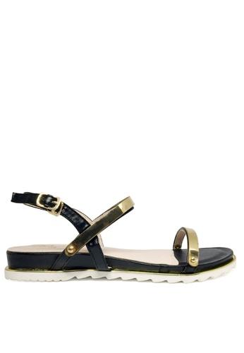 Twenty Eight Shoes black Metallic Sandal TW446SH70AENHK_1