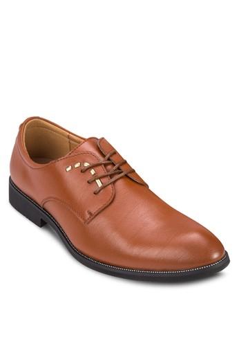 PU zalora 內衣鉚釘繫帶商務鞋, 鞋, 鞋