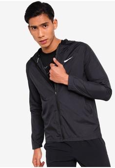 df70d217d Nike black Nike Essential Men's Hooded Running Jacket 7C546AAB4EFB6FGS_1