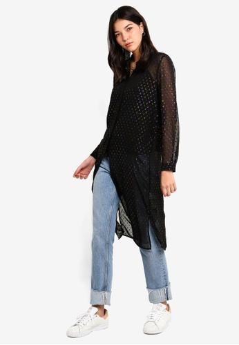 ESPRIT black Woven Long Sleeve Blouse C9575AA5601C44GS_1