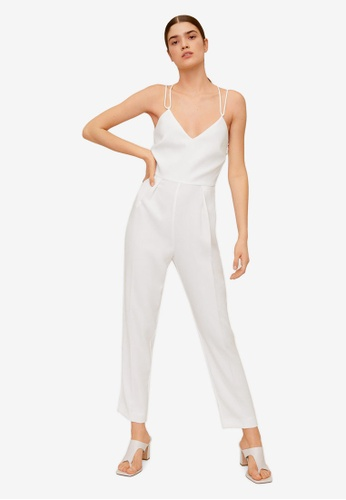 Mango white Wrap-Back Short Jumpsuit 1E25EAAA988622GS_1