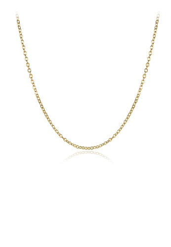 Glamorousky silver Simple Plated  Gold Necklace B594AACC8E58DFGS_1