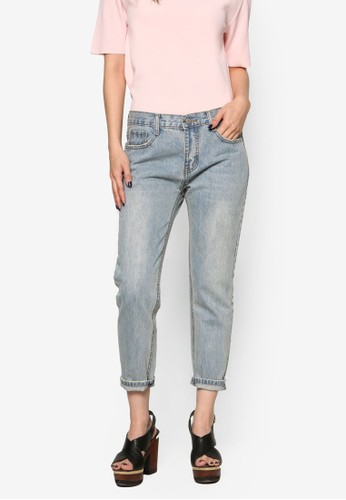 Cropped Denim Jeans、 服飾、 俏皮男孩風NAINCroppedDenimJeans最新折價