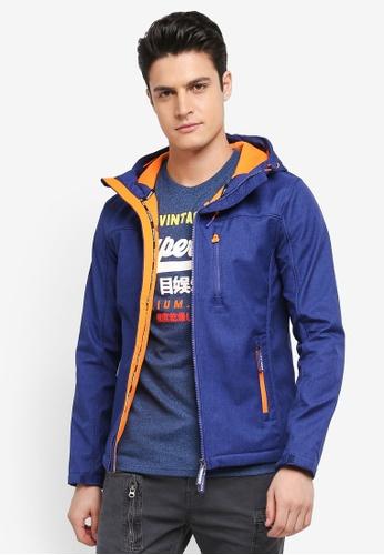 Superdry blue Hooded Windtrekker 7C4EEAA29263CBGS_1