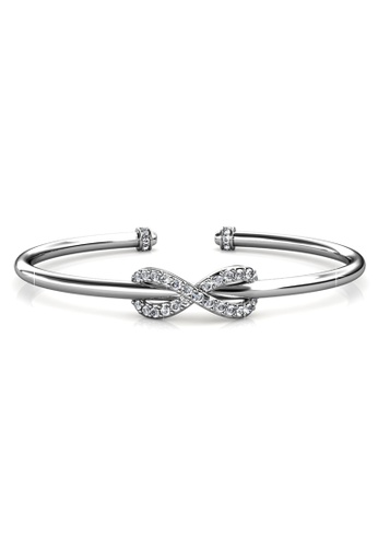 Her Jewellery silver Her Jewellery Ribbon Bangle embellished with Crystals from Swarovski 23320ACCEB4D4EGS_1