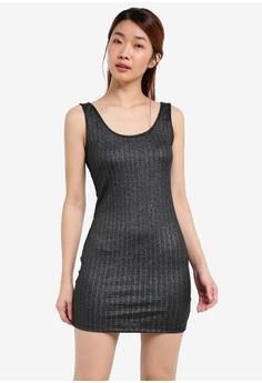 Metallic Knit Tank Dress