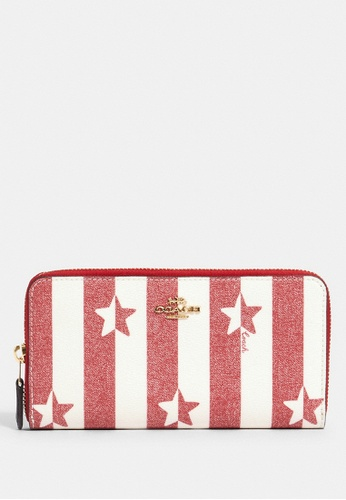 Coach red Coach Accordion Zip Wallet With Stripe Star Print - Red E79A2AC7BF9F3FGS_1