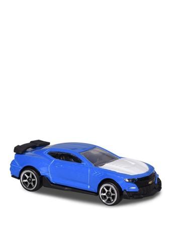 Majorette white and blue Majorette Street Cars Asst - Chevrolet Camaro - Blue E9372THAF3D799GS_1