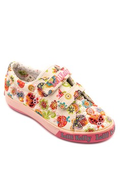 Lady Bug and Floral Velcro Strapped