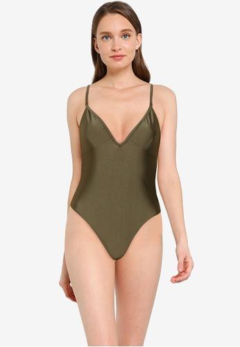 Public Desire green Cross Back Swimsuit 17B22USE219460GS_1