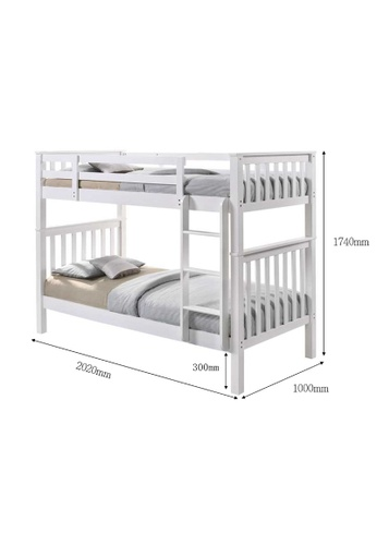 AMOUR Solid Wood Bunk Bed 1B908HL1D5653EGS_1