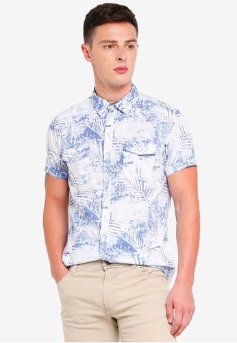 OVS 白色 Short Sleeve Shirt With Flower Print DA942AA92FFBA7GS_1