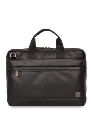 "knomo black Foster 14"" Leather Laptop Briefcase (Black) ECEE9AC62BD760GS_1"