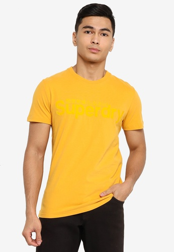 Superdry gold Core Faux Suede Tee 6921FAA13860C8GS_1