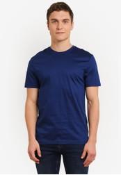 Topman blue Navy Premium T-Shirt TO413AA0SC1UMY_1