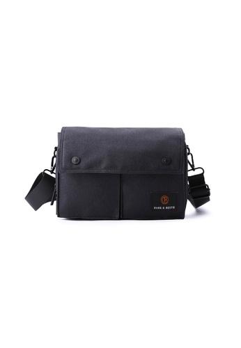 The Dude black Wander Sling Bag TH373AC67RFCHK_1