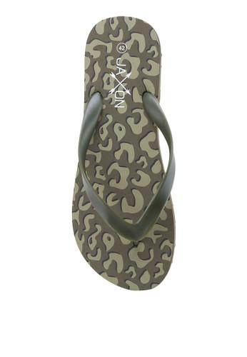 JAXON green Leopard Print Flip Flops 9F8F9SHD1207DFGS_1