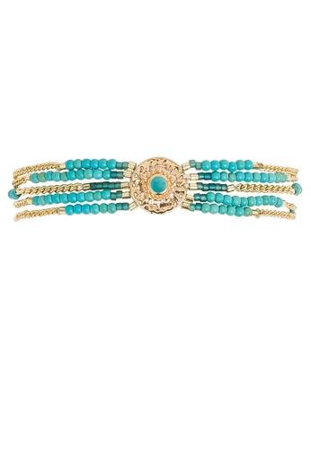 HIPANEMA multi Multi chains beaded bracelet Shogun turquoise 13C03ACBC10E29GS_1