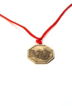 Feng Shui Brass Snake Pendant Animal Sign Necklace