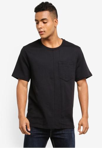 Calvin Klein black Buton Crew Neck Tee - Calvin Klein Jeans 7DE9AAA3A6971AGS_1