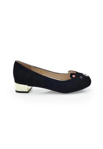 Elisa Litz black Beary Low-Heels (Black) EL365SH08ZHVSG_1
