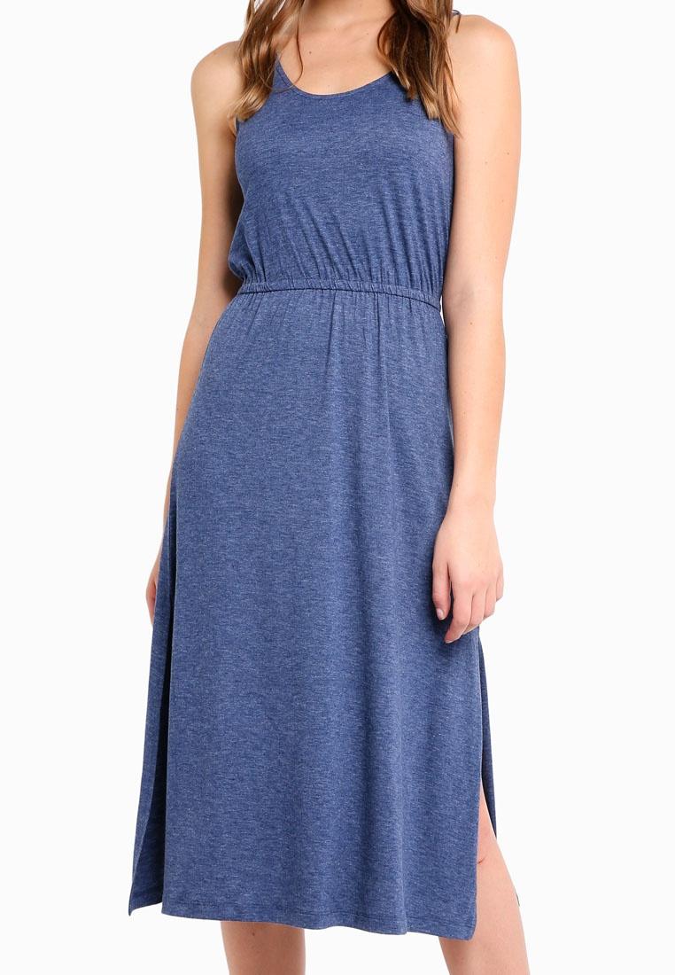 Marl Dress Blue Drawstring Midi BASICS Basic ZALORA qUx6Ynq1