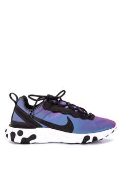 f6bc27268bf4 Nike black W Nike React Element 55 Prm Shoes 07ED2SH9B18E1FGS 1