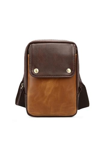 Lara brown Plain Flap Buckle Cross Body Pocket Bag - Brown 4BECEAC35BDDA1GS_1