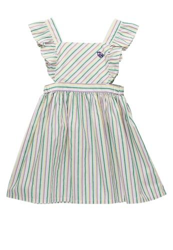 Kingkow multi Kingkow Logo Striped Cotton Dress 2-4 years 5BC6AKAAC322EDGS_1