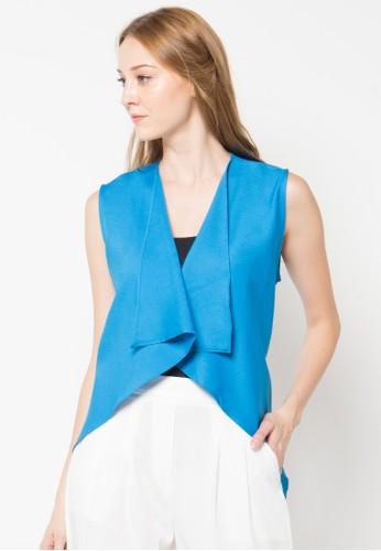 Raspberry blue Kyla Sleeveless Cardigan RA572AA68PTBID_1
