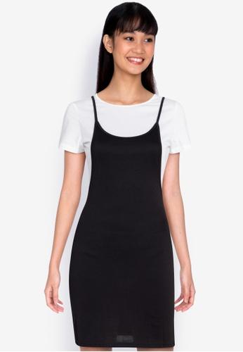 ZALORA BASICS multi Tie Shoulder 2-in-1 Dress BB299AAEEEE75FGS_1
