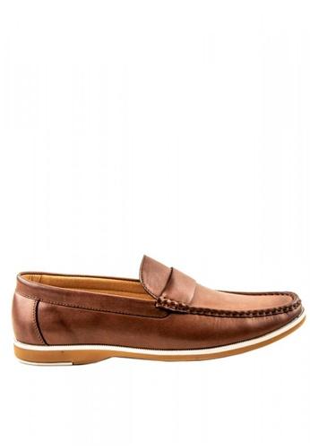 Otto brown Slip-On Loafers 8B6DFSH5B86EDBGS_1