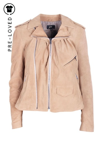 June brown Pre-Loved june Camel color Genuine Leather Rider Jacket 019A3AAB7398B6GS_1