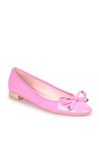 Sunnydaysweety pink Big Sale Item - Sweet Bow Metal Color Heel Flat Shoes C12080PI SU219SH0FDKYSG_1