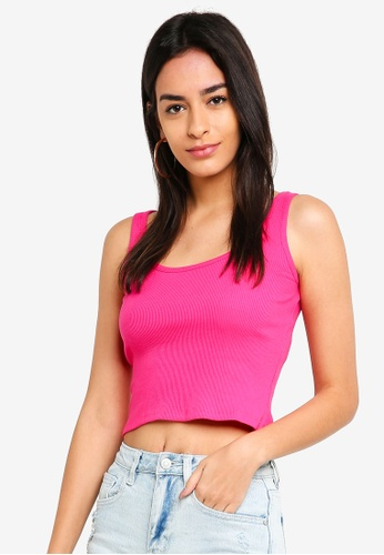 Supre pink Rita Ribbed Singlet 95731AA9B4A827GS_1
