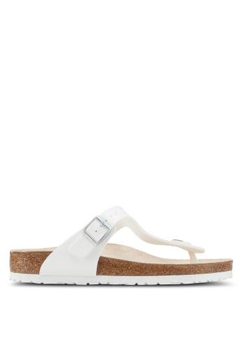 Birkenstock white Gizeh Birko-Flor Sandals 6F7B0SH3F13DDFGS_1